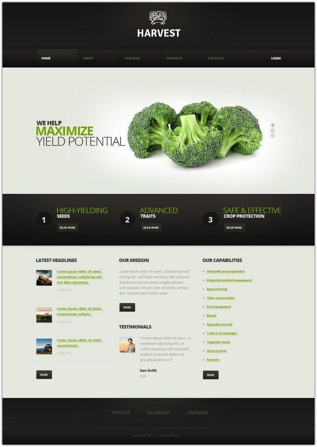 Harvest Responsive WordPress Theme