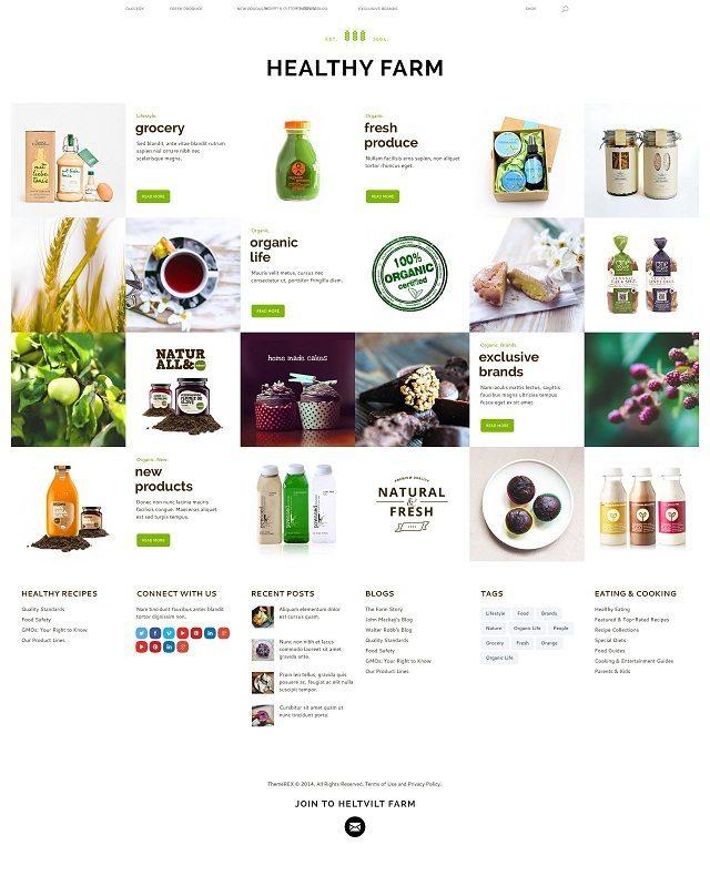 Healthy Farm Food Agriculture WordPress Theme