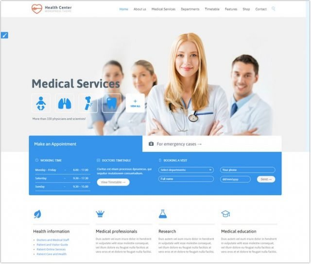 Heath Center - Medical WordPress