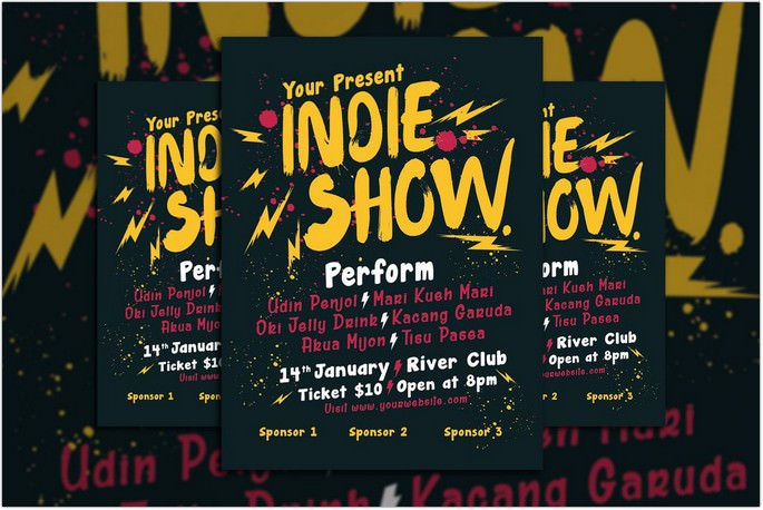 Indie Show Concert Flyer