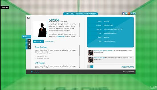 Innovative Idea – Personal vCard HTML5 Theme