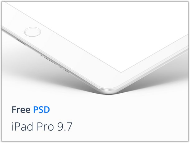 Ipad Pro 9.7 White Mockup