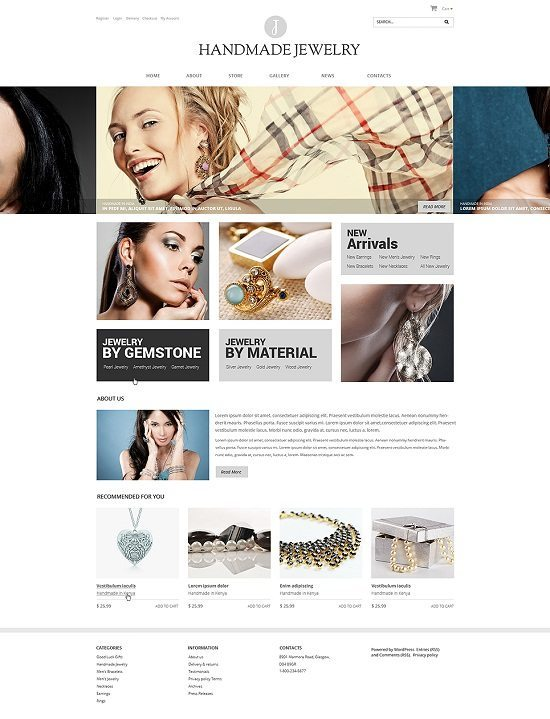 J – Jewelry Responsive WooCommerce Theme WooCommerce Themes