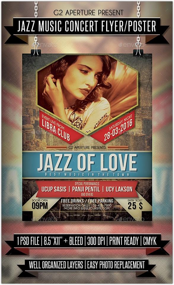 Jazz Music Concert Flyer Poster
