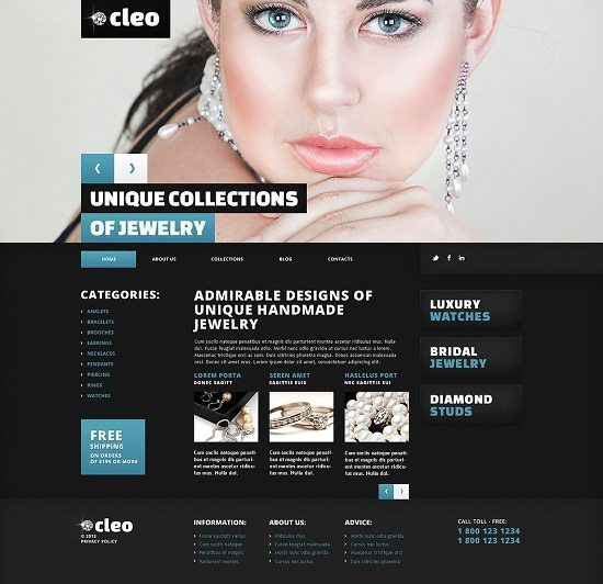 Jewelry Responsive WordPress Theme Monsters