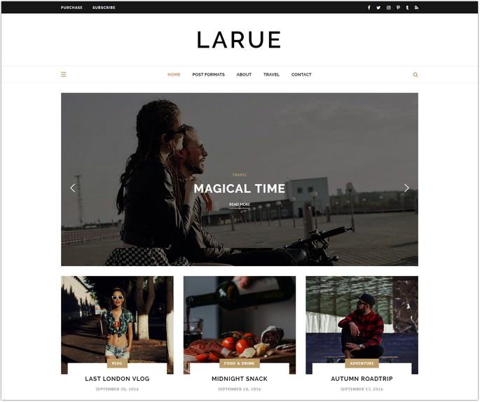 Larue - Personal Blog Theme