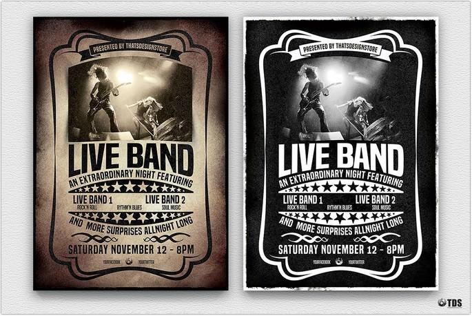 Live Concert Flyer Template V1 # 2