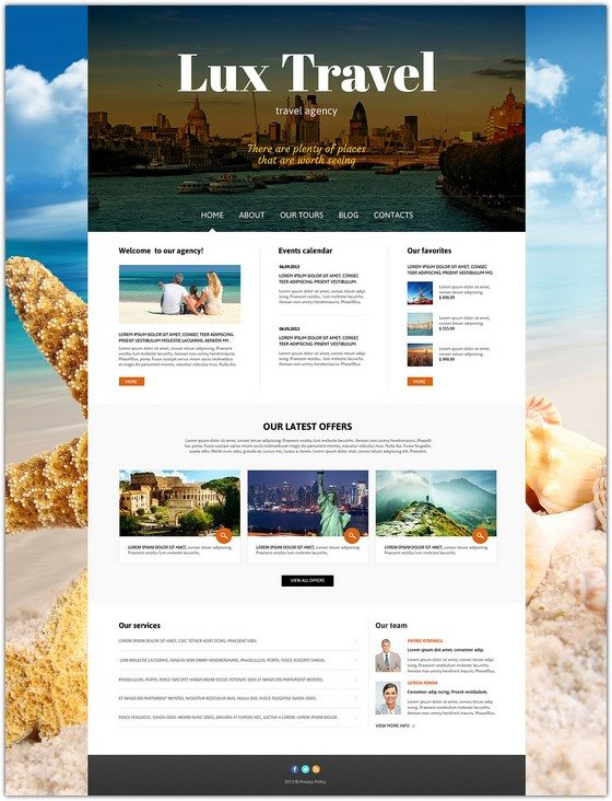 Lux Travel Agency Responsive Joomla Template