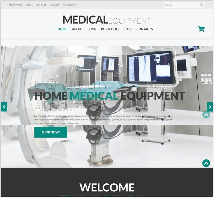 Medical Instruments Equipment WooCommerce Theme