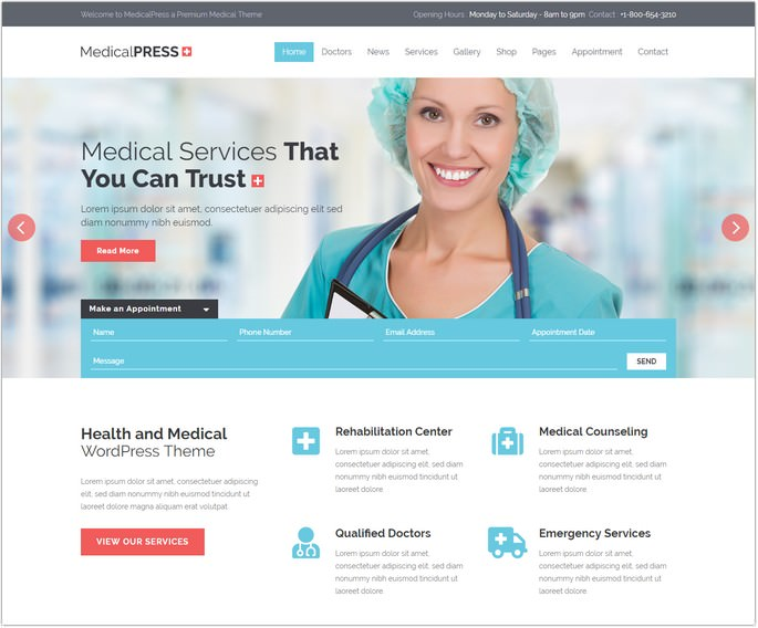 MedicalPress - Medical WordPress Theme
