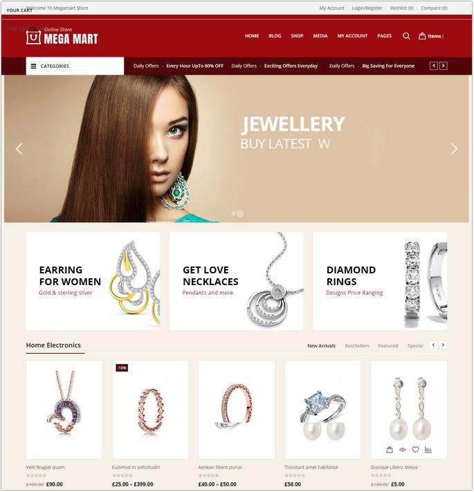 Megamart - Jewelry Responsive WooCommerce Theme