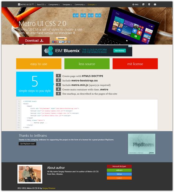 Metro-UI-CSS