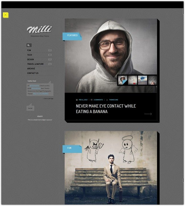 Milli Responsive Blog WordPress Theme