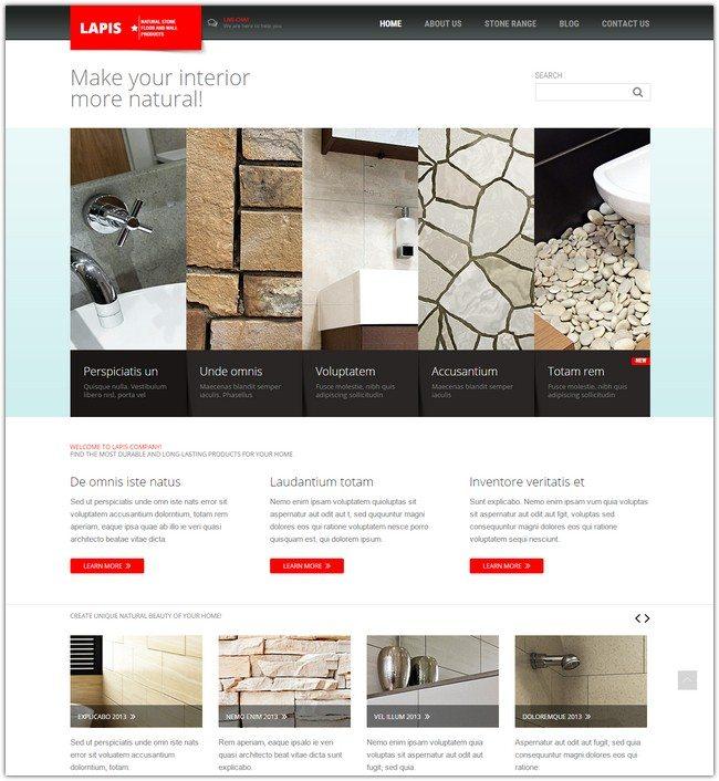 Minimalist Interior Design Joomla Template