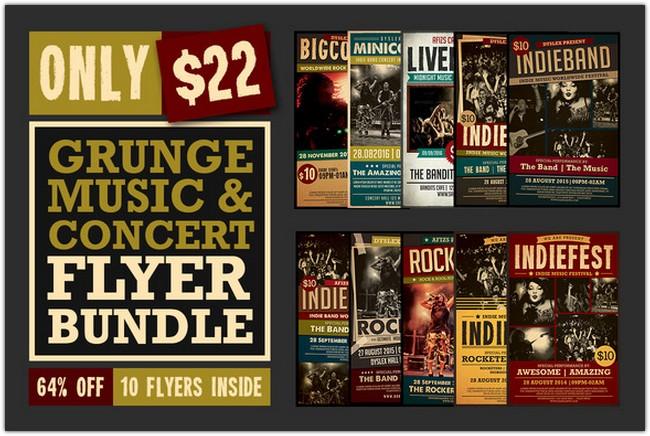 Music Concert Flyer Bundle (64% off)