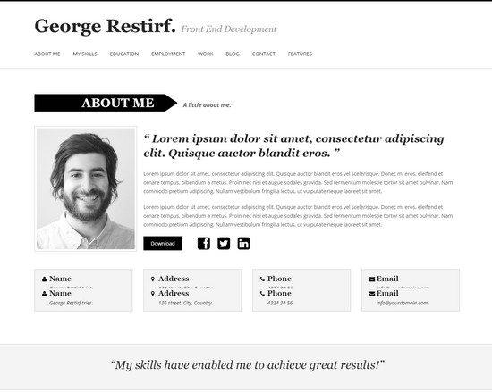 My Cv - Responsive And Retina WordPress theme CV