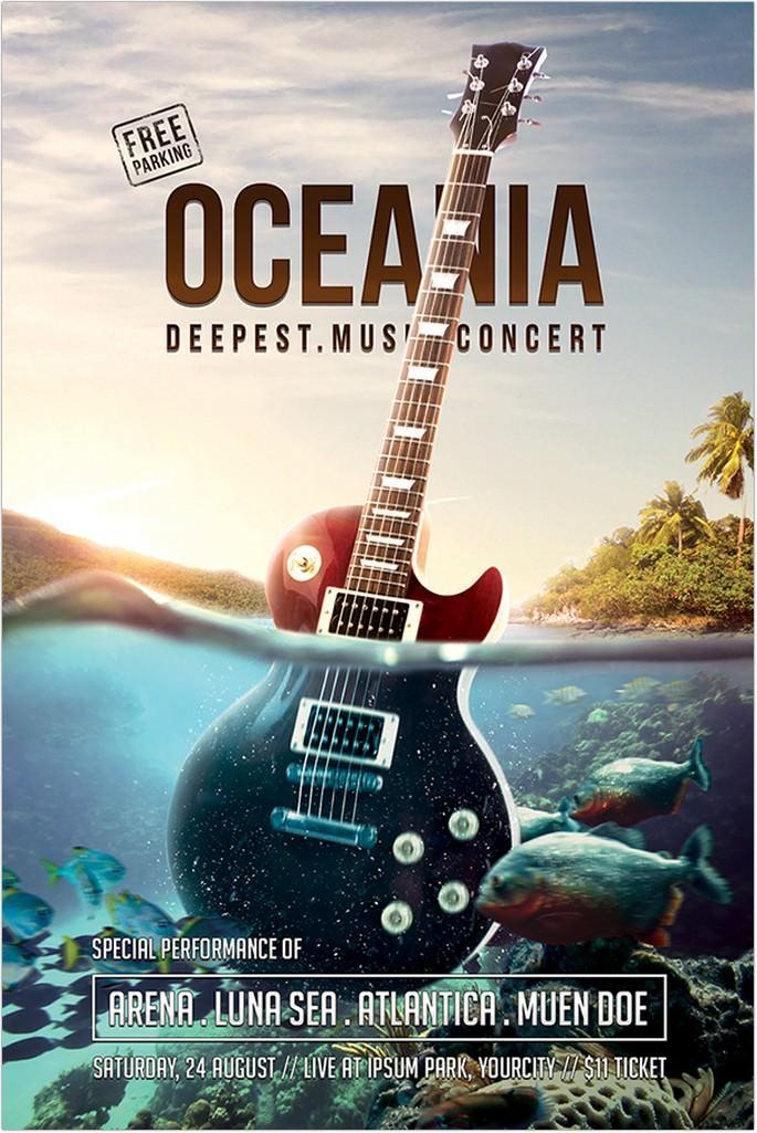 32 best concert flyer psd templates designs 2018 templatefor