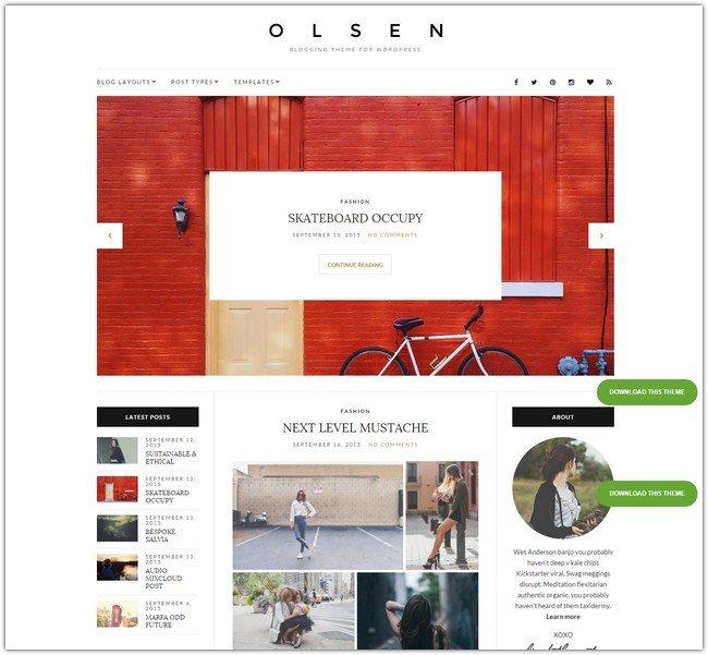 Olsen WordPress Theme