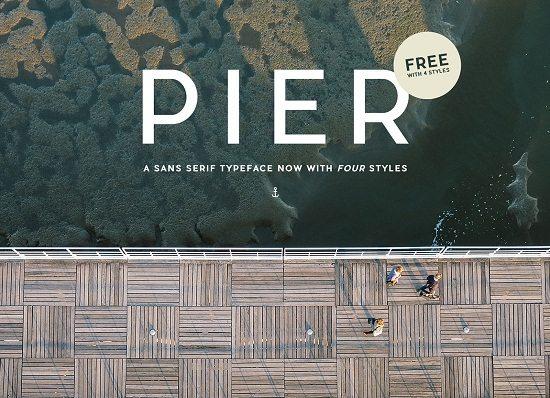 PIER SANS – FREE TYPEFACE