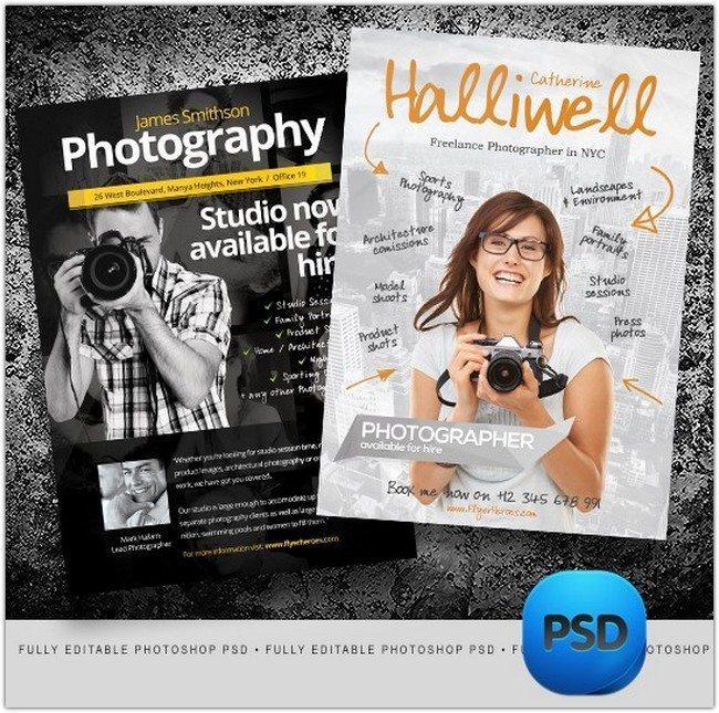 Photography Flyer Templates Set 3