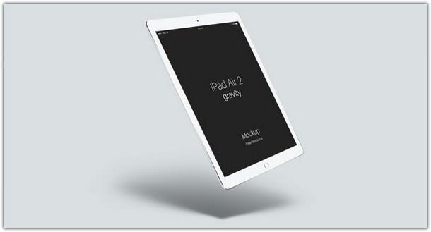 Psd iPad Air 2 Gravity Mockup