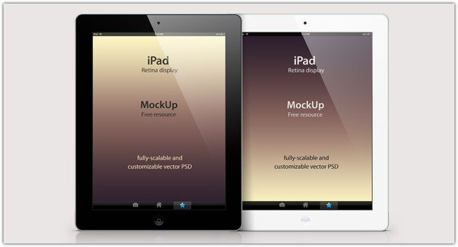 Psd iPad Retina Mockup Template