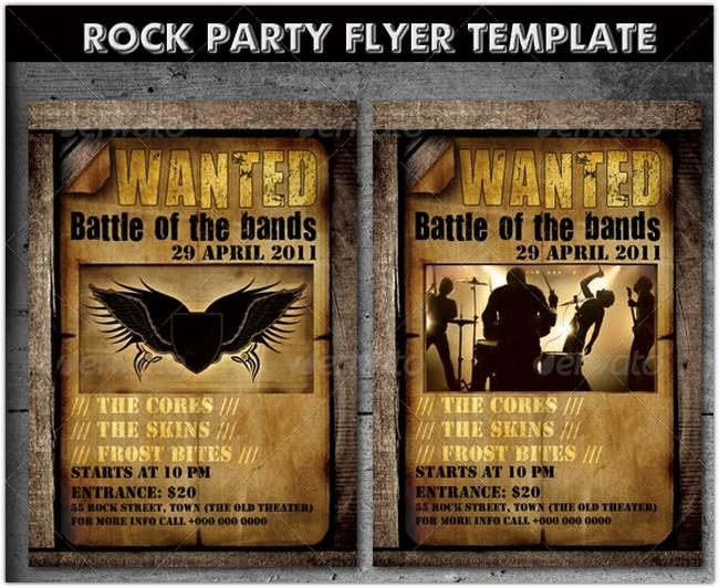 32 best concert flyer psd templates designs 2018 templatefor rock party concert flyer template 2 maxwellsz