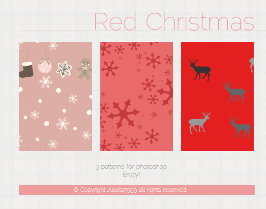 Red Christmas Patterns