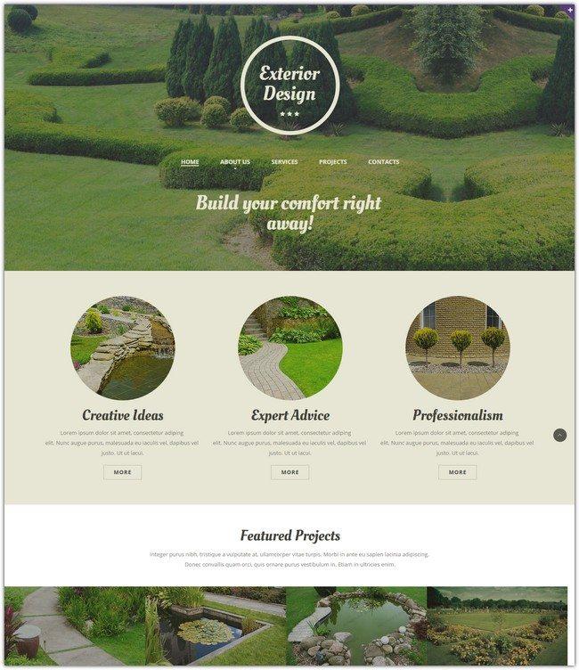 Responsive Exterior Design Website Template