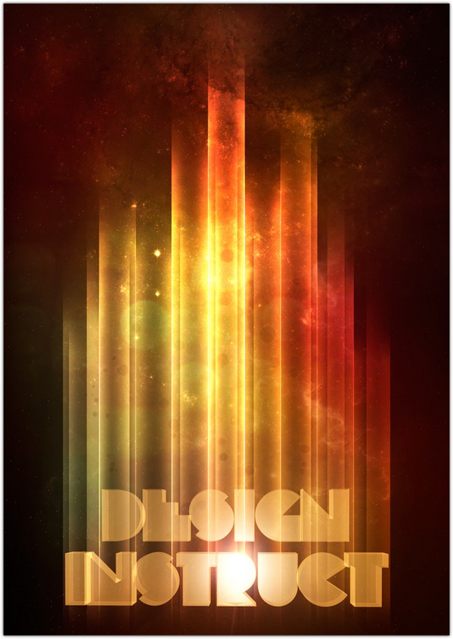 Retro-Space Typography Poster