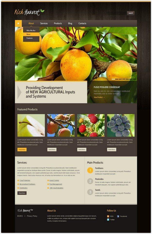 Rich harvest wordpress theme