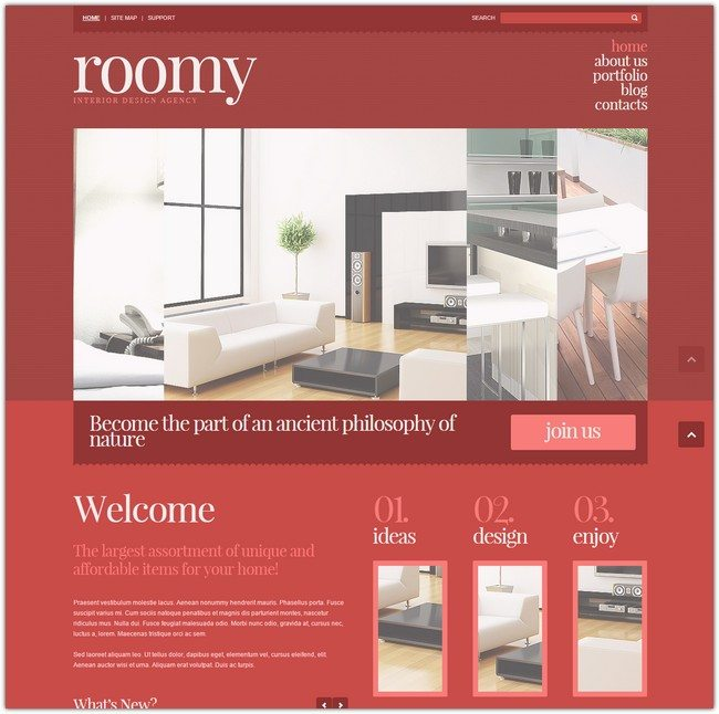 Roomy Interior Design Responsive Joomla Template