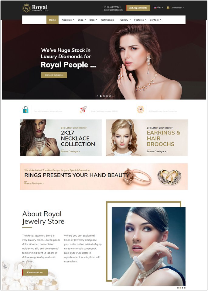 Royal Jewelry WordPress Responsive Theme