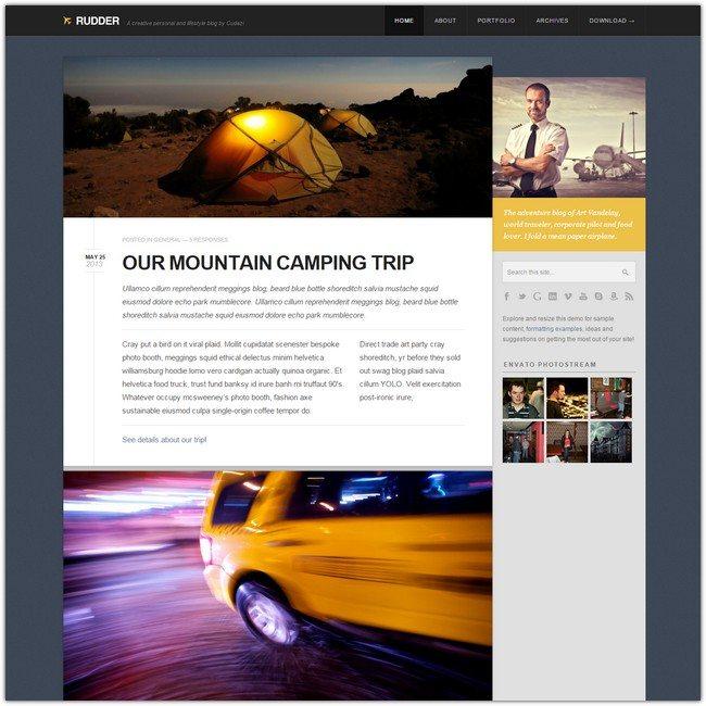 Rudder - Responsive HTML5 CSS3 Lifestyle Blog