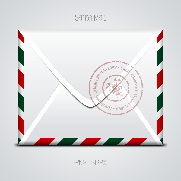 Santa Mail Png And Psd
