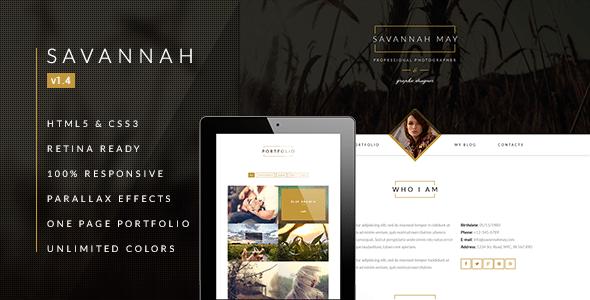 Savannah-Responsive-vCard-Portfolio