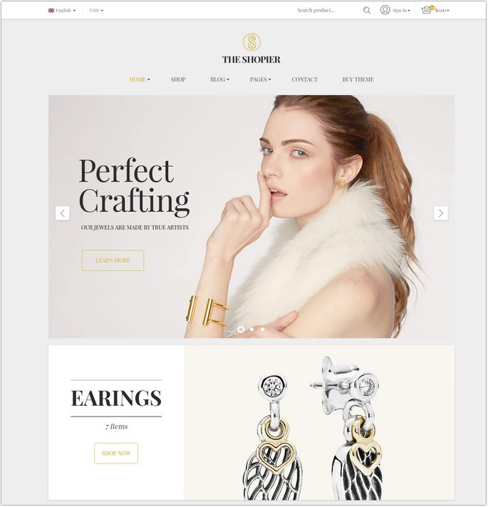 Shopier - Responsive Jewelry Shop WordPress WooCommerce Theme
