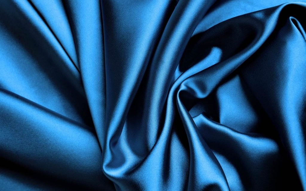 Silk Abstract Blue Wallpaper