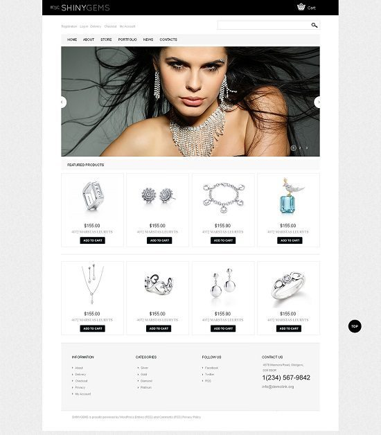 Sparkling Jewels WooCommerce Theme