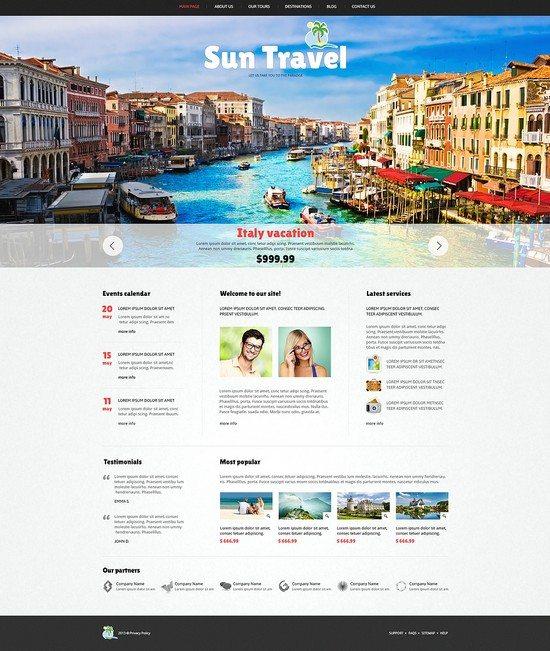 Sun Travel Agency Responsive Joomla Template