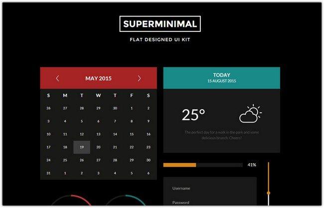 Super Minimal V2 UI Kit a Flat Bootstrap Responsive Web Template