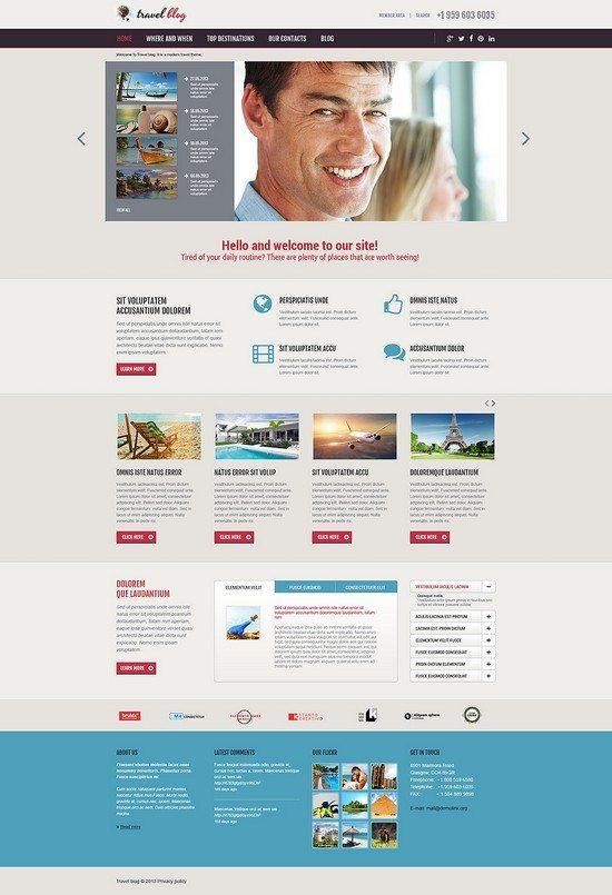 Travel Blog Agency Responsive Joomla Template