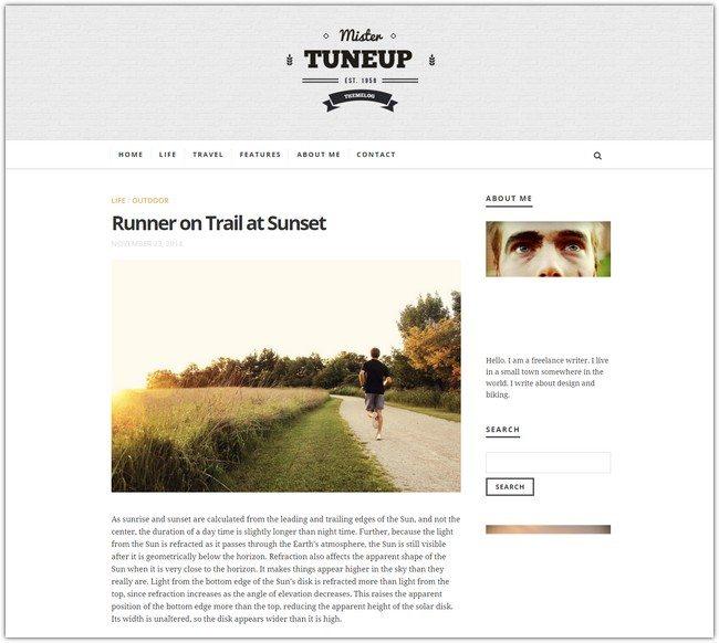 TuneUp - Responsive WordPress Blog Theme