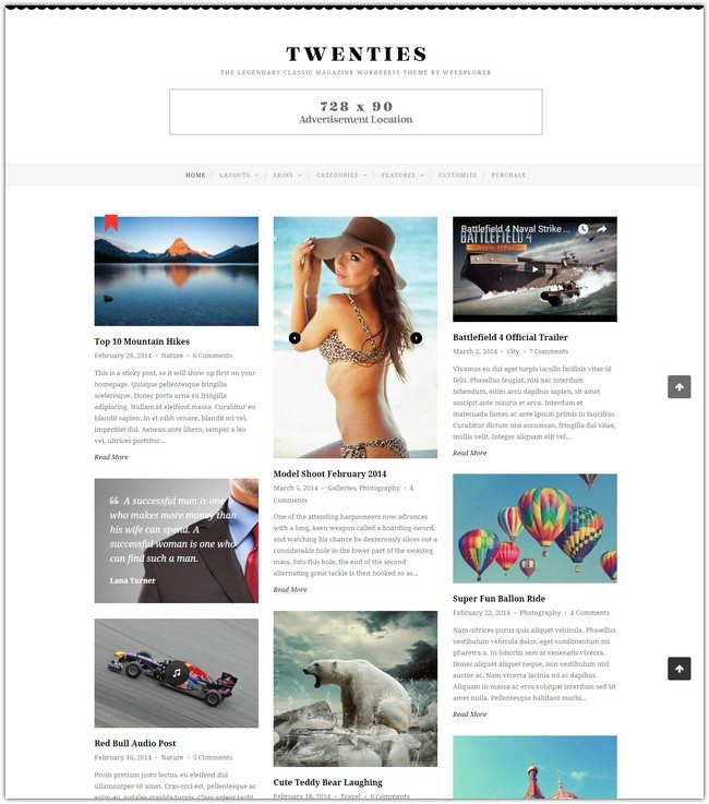 Twenties - Clean, Responsive Blog WordPress Theme