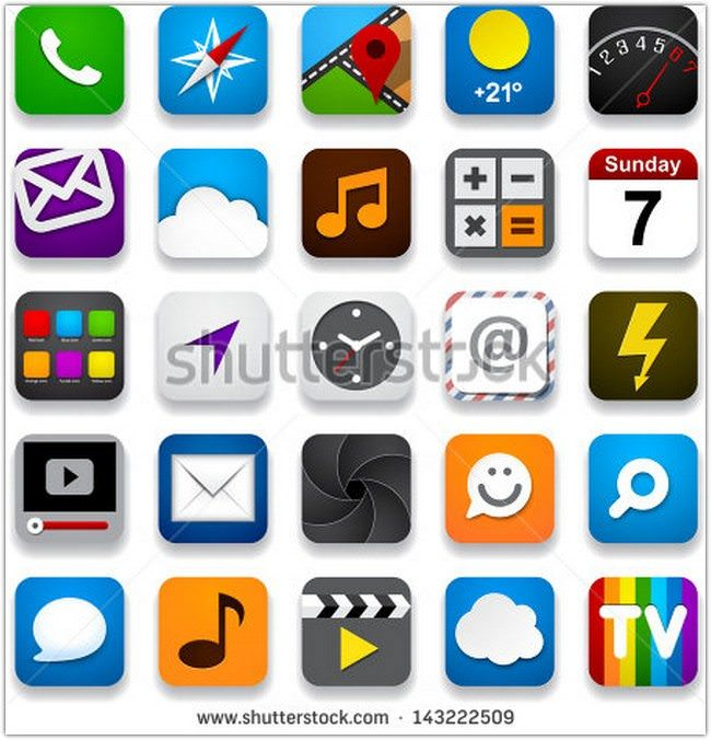 Vector illustration of app icon set