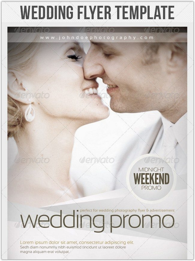 Wedding Photography Flyer Template # 2