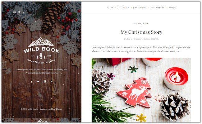 Wild Book - Vintage and Elegant Theme + Christmas