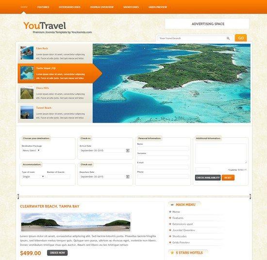 YouTravel Joomla Travel Template
