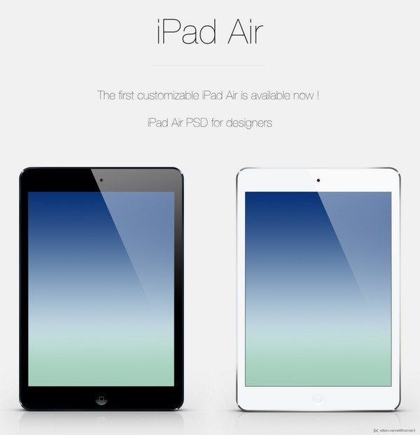 iPad Air customizable PSD