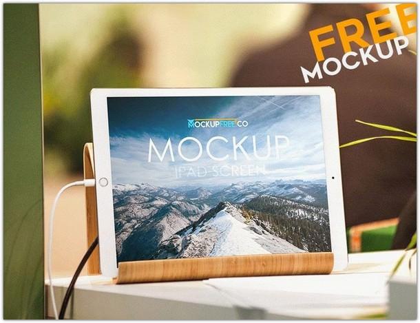 iPad Screen PSD Mockup Free